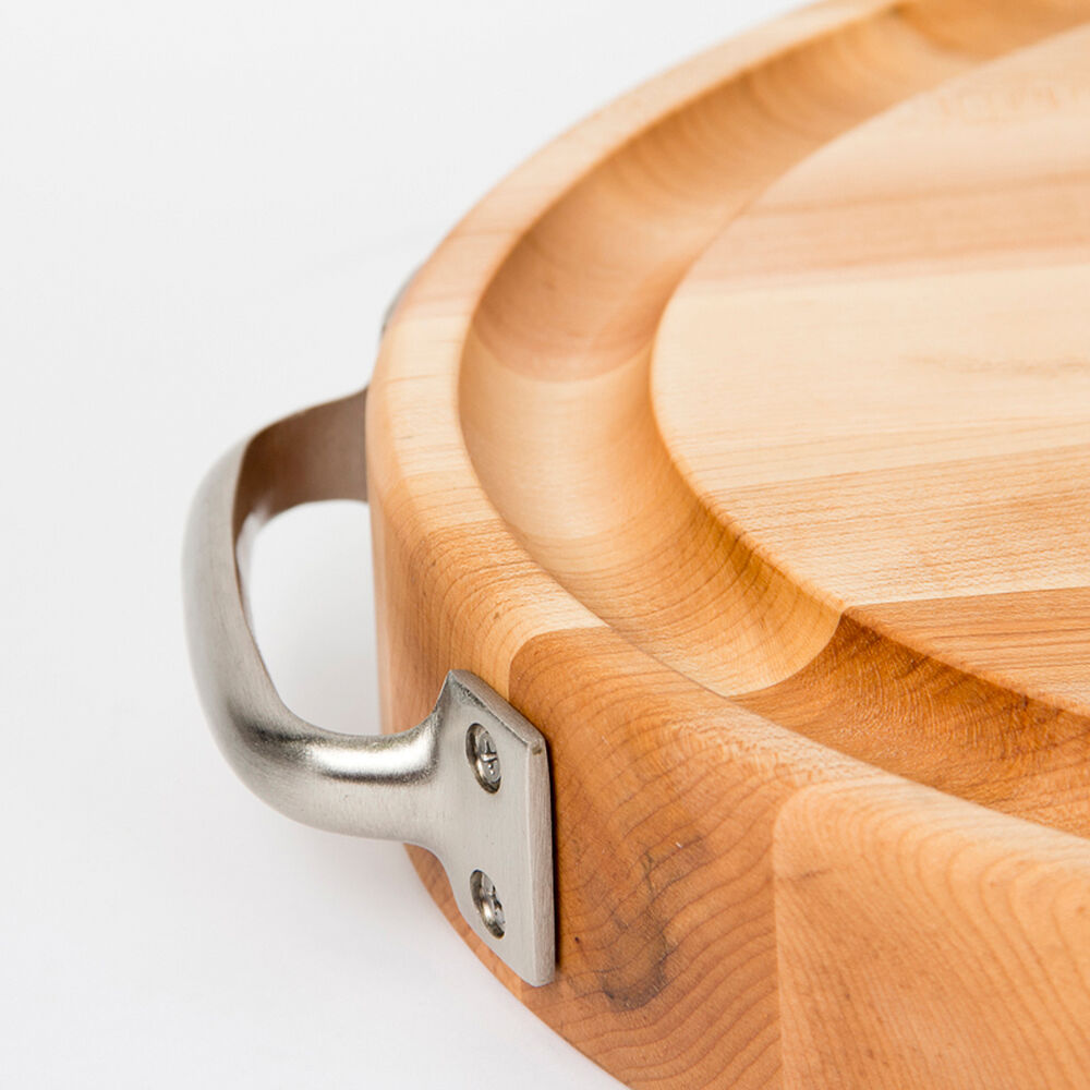 John Boos & Co. Oval Edge-Grain Maple Cutting Board