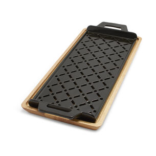 Pro-Ceramic Grill Grid with Wood Trivet
