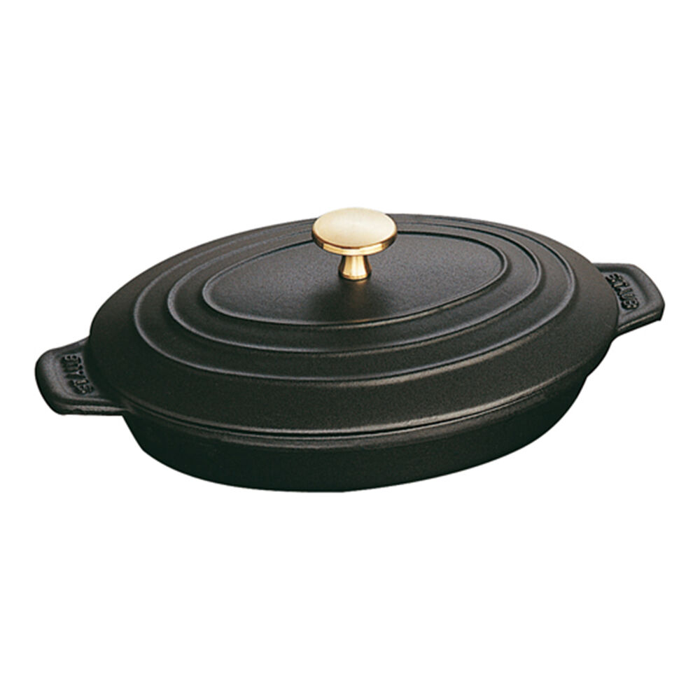 """Staub Oval Covered Baker, 9"""" x 7"""""""
