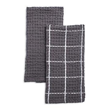 Washed Waffle Kitchen Towels, Set of 2