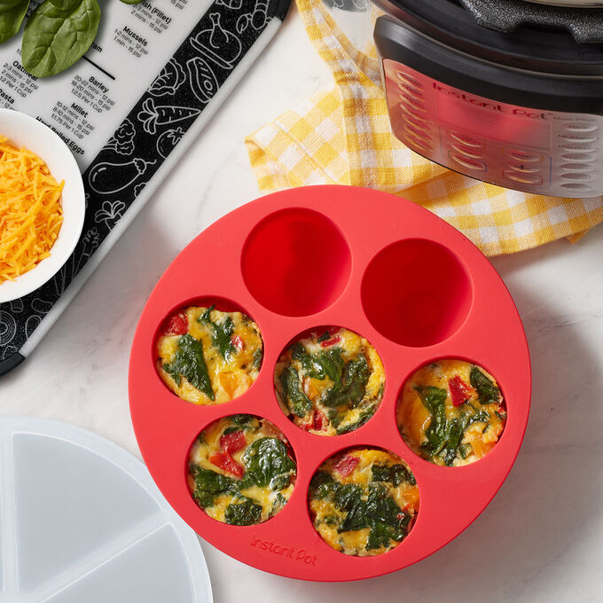 Instant Pot Silicone Egg Bites Pan with Lid