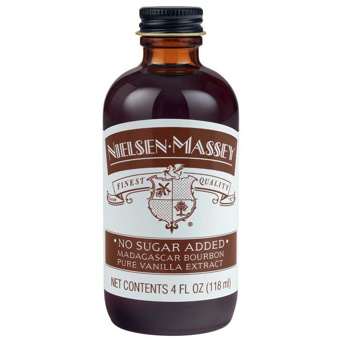 Nielsen-Massey No-Sugar Added Madagascar Bourbon Pure Vanilla Extract, 4 oz.