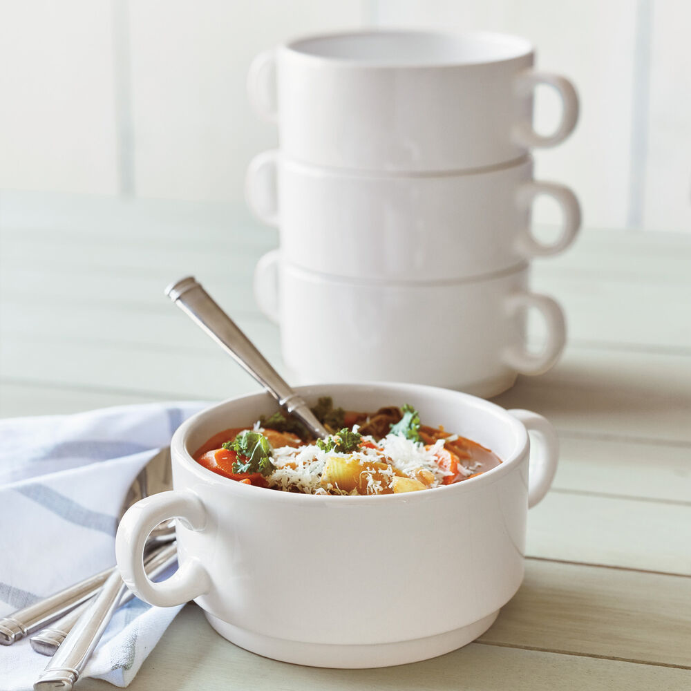 Double-Handle Soup Bowls, Set of 4