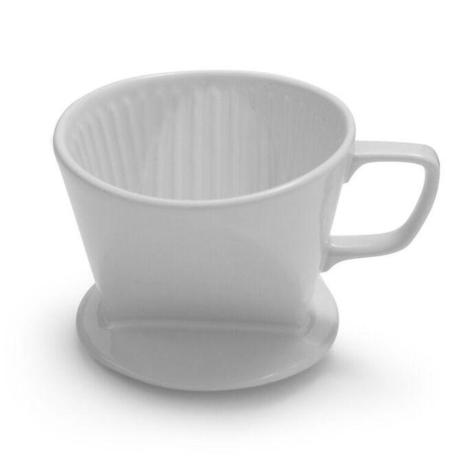 Sur La Table White Stoneware Coffee Cone, #2  Filter