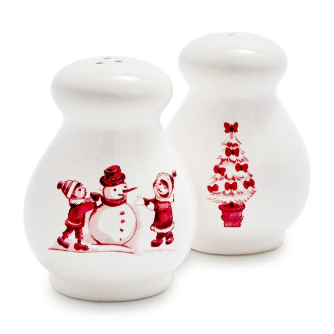 Snowy Lane Salt & Pepper Shakers