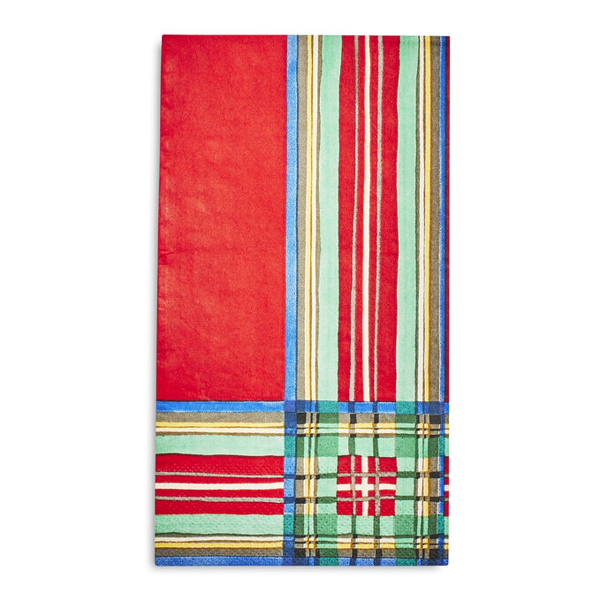 Christmas Plaid Paper Guest Napkins, Set of 20
