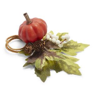 Pumpkin Leaves Napkin Ring