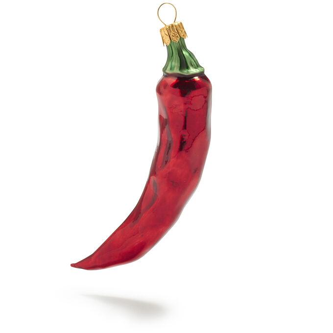 Red Chile Pepper Glass Ornament