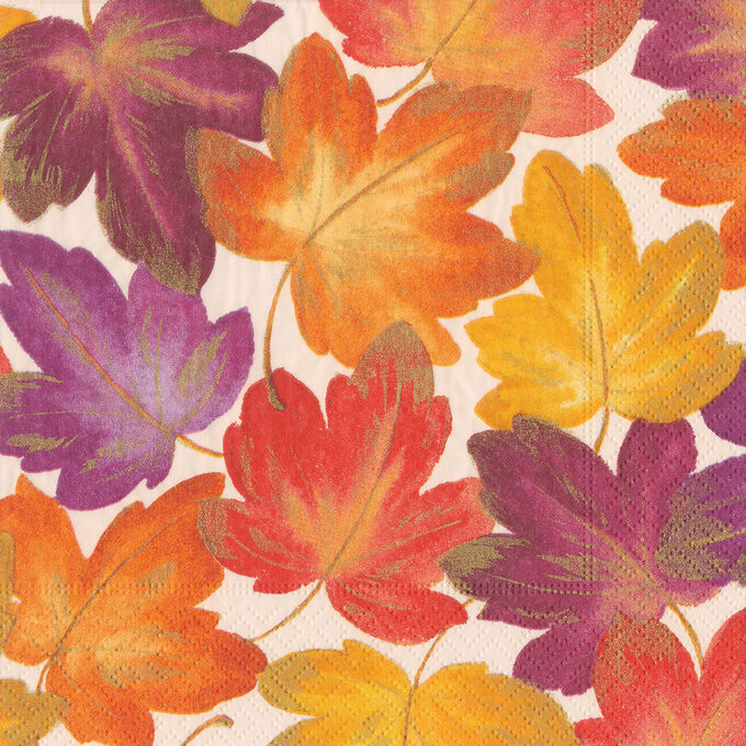 Fall Leaves Cocktail Napkins, Set of 20