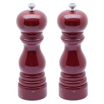 "Peugeot Red-Lacquer Paris U'Select Salt & Pepper Mills, 7"""