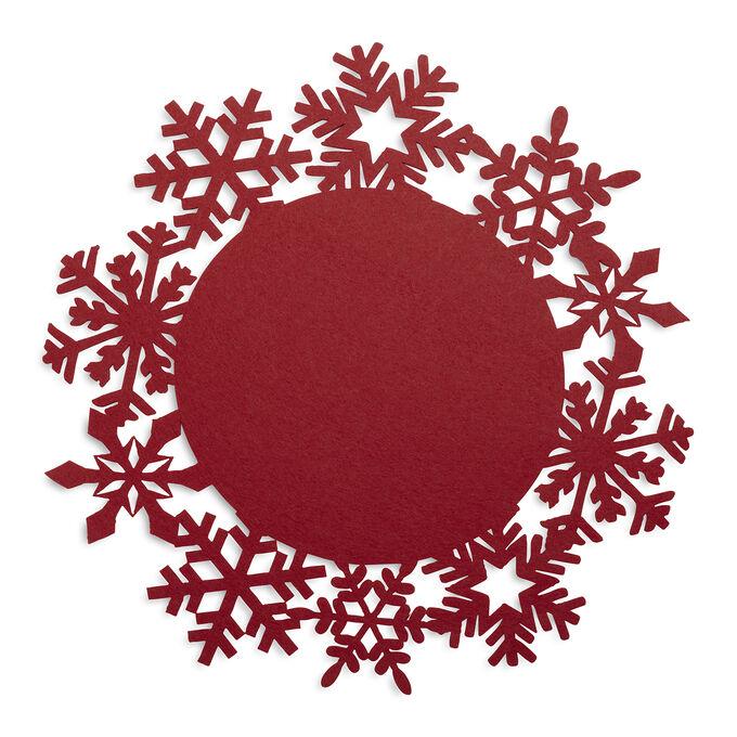 Sur La Table Snowflake Felt Placemat