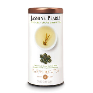 The Republic of Tea Jasmine Pearls Full Leaf Loose Tea, 3 oz.