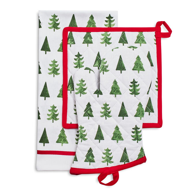 Christmas Tree Stripe 3-Piece Gift Set