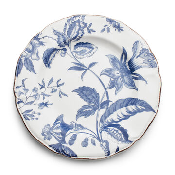 Italian Blue Floral Salad Plate