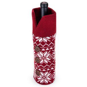 Snowflake Sweater Wine Bag