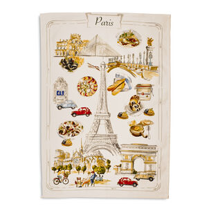 "France Map Kitchen Towel, 28"" x 20"""