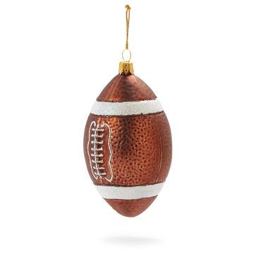 Football Glass Ornament