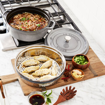 Staub Shallow Cocotte with Steamer Insert, 4 qt.