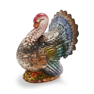 Italian Hand-Painted Ceramic Turkey