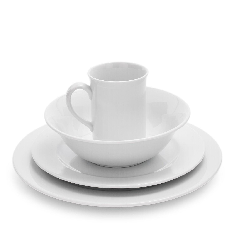 "WHITE PLATES 8/"" PORCELAIN SALAD PLATES KITCHEN 6 SET"