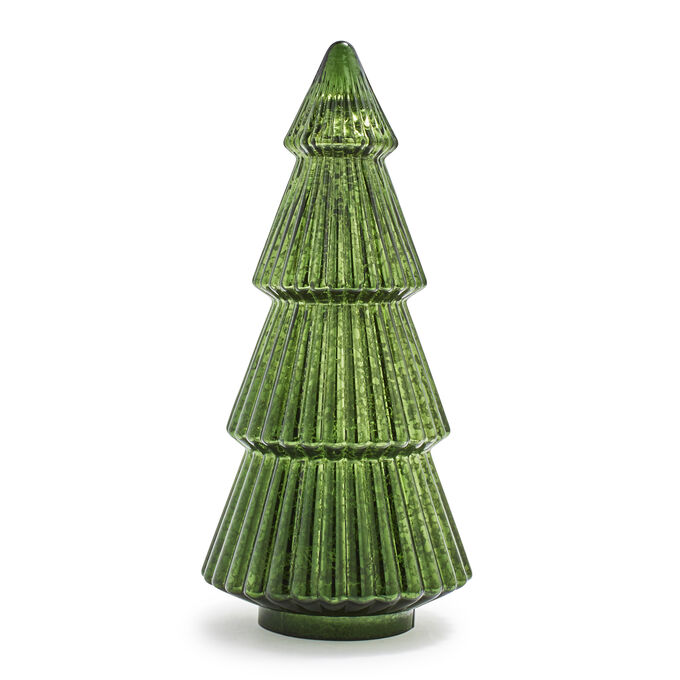 Decorative Mercury Glass Green Tree
