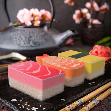Fred Wasabi Sushi Sponges, Set of 3