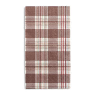Plaid Paper Guest Napkins, Set of 15