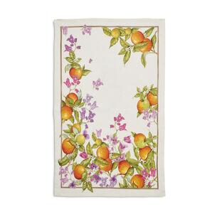 """Orange Linen Kitchen Towel, 28"""" x 18"""""""