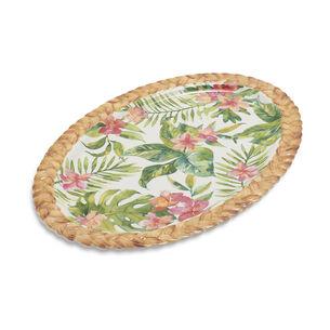 "Palm Melamine Oval Platter, 21"""