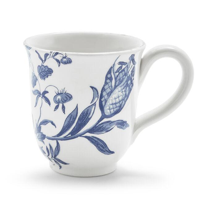 Italian Blue Floral Mug, 15 oz.