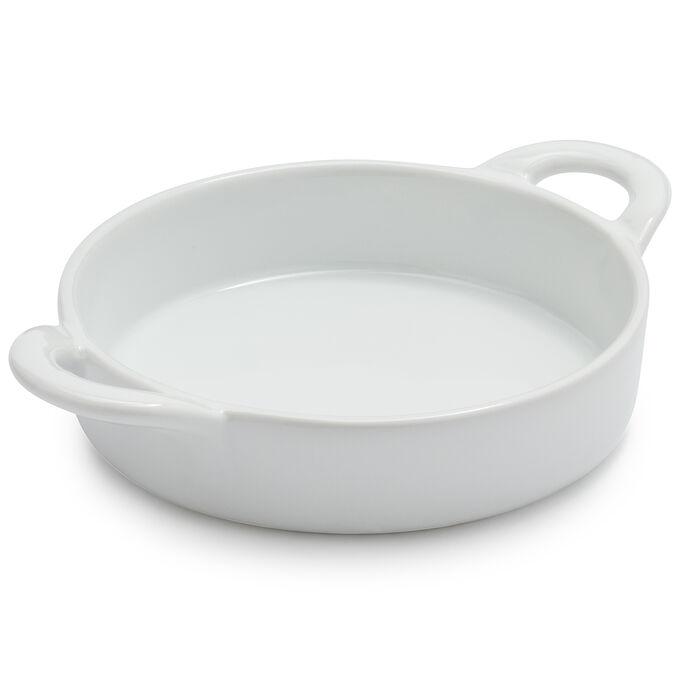 Sur La Table Porcelain Round Crème Brûlée Dish with Handles