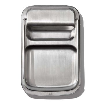 OXO Stainless Steel Spoon Rest with Lid Holder