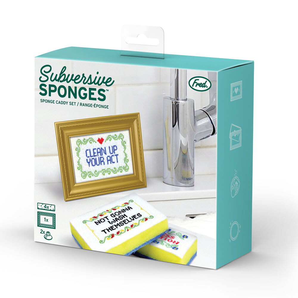 Fred Subversive Sponges and Holder