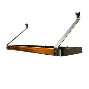 Enclume Hammered Steel & Tigerwood Signature Bookshelf Rack