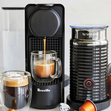 Nespresso Essenza Plus by Breville with Aeroccino 3 Frother
