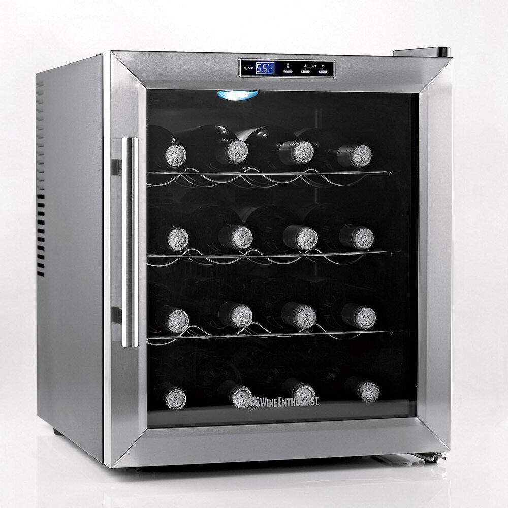 Wine Enthusiast Silent Touchscreen Wine Cooler, 16 Bottle