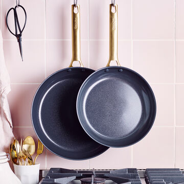 "GreenPan Reserve Healthy Ceramic Nonstick Skillets, Set of 2, 10"" & 12"""