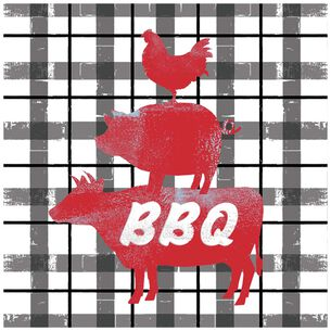 BBQ Choice Lunch Napkins, Set of 20