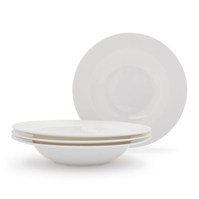 Gourmet Essentials Classic Pasta Bowls, Set of 4