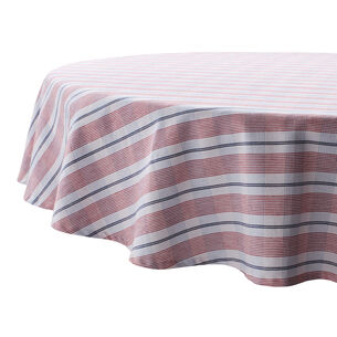 Round Open Plaid Tablecloth, 70""