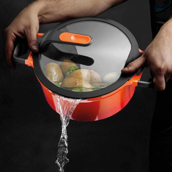BergHOFF Gem Stay-Cool Stockpot with Lid