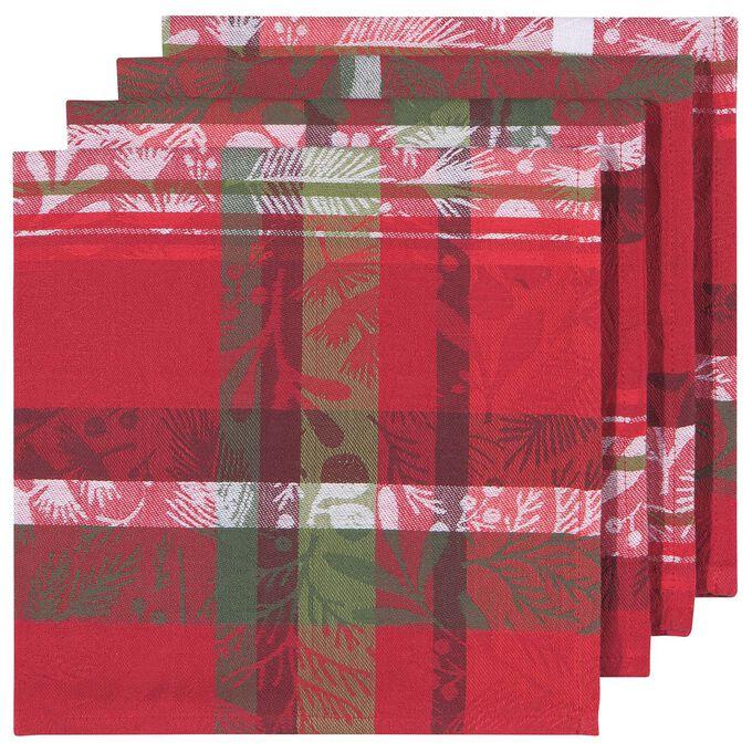 Jacquard Festive Forest Napkins, Set of 4