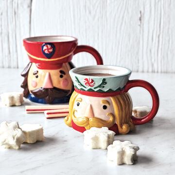 Figural Nutcracker Mugs
