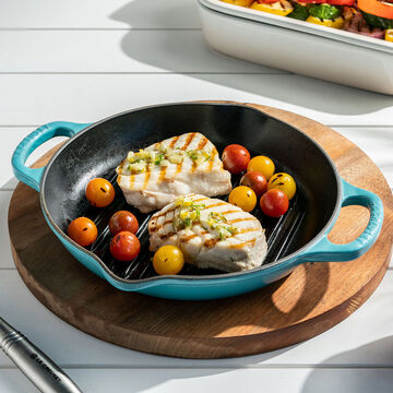 Le Creuset Deep Round Grill Pan, 9.75""