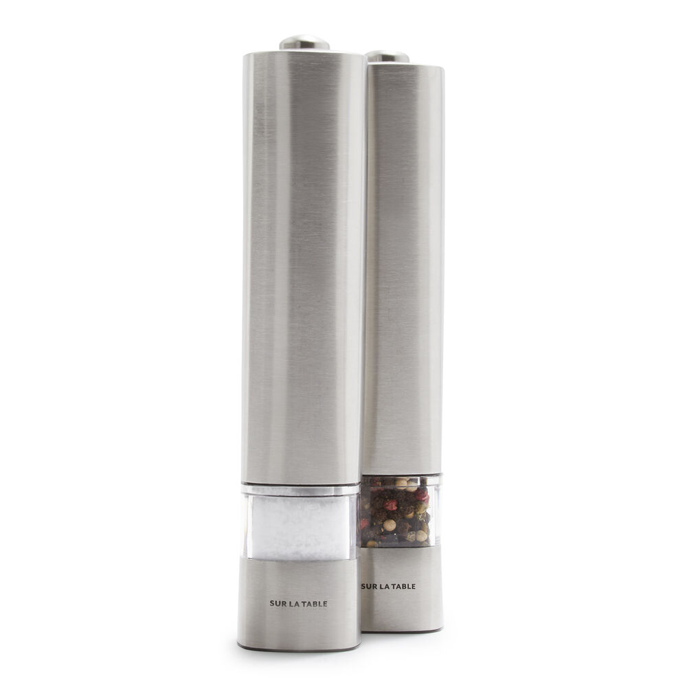 Sur La Table Electric Salt & Pepper Mills, Set of 2