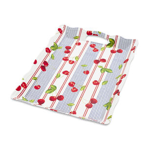 "Cherry Melamine Tray with Handles, 19.1"" x 14.1"""