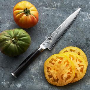 "Shun Classic Serrated Utility Knife, 6"""