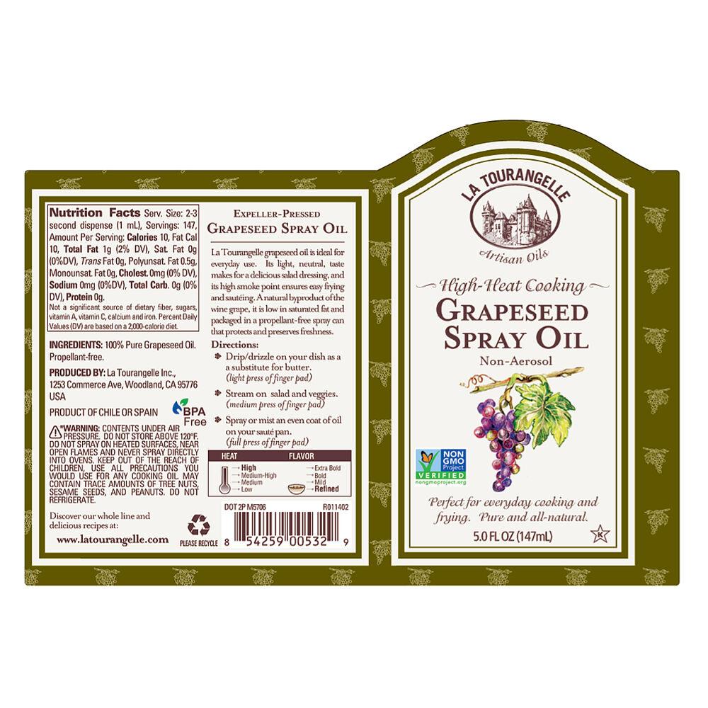 La Tourangelle Organic Grapeseed Oil Spray