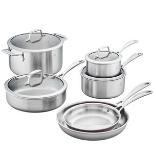 Zwilling Spirit Stainless Steel 10-Piece Cookware Set