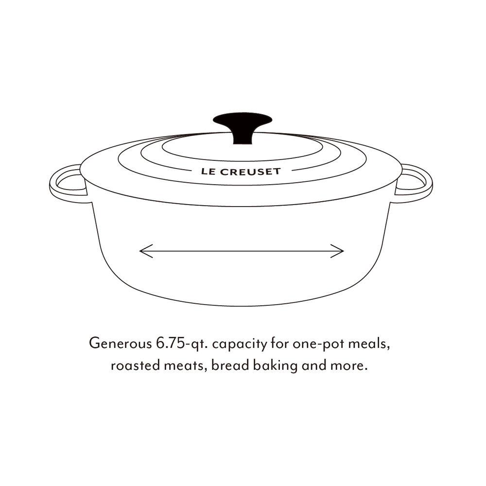 Le Creuset Round Wide Dutch Oven, 6.75 qt.